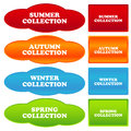 Collections banners new on a white background Royalty Free Stock Image