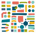 Collections of infographics flat design buttons, elements. Royalty Free Stock Photo