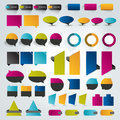 Collections of infographics flat design elements vector illustration Royalty Free Stock Images