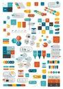 Zbierky z infografiky byt dizajn šablóna
