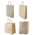 Collections of isolated paper bag Royalty Free Stock Photos