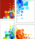 Collections of mosaic styled vector  patterns Royalty Free Stock Photo