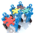 Collective works in the design of information related to teamwork Royalty Free Stock Images