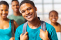 College boy friends handsome african american with on background Stock Photography