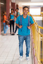 College boy smiling african looking at the camera Royalty Free Stock Photo