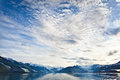 College fjord wide angle view of alaska Royalty Free Stock Images