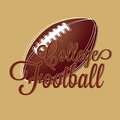 College football on brown background Stock Photo
