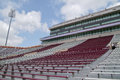 College football stadium this is a the colors are maroon and white Stock Photo
