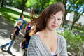 College Girl Royalty Free Stock Photo