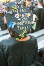 College Graduate Wears Mortar Board With Funny Message Royalty Free Stock Photo