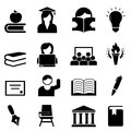 College and higher education icon set Royalty Free Stock Photo