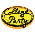 College party retro stamp isolated white Stock Photography