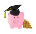 College savings concept illustration design over a white background Royalty Free Stock Photos