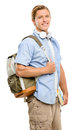 College student back to school happy smiling Stock Photos