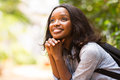 College student daydreaming attractive female african Royalty Free Stock Photos