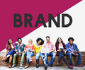 College Student Start up Brand Marketing Concept Royalty Free Stock Photo