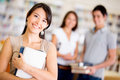 College students smiling Royalty Free Stock Photo