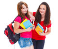 College students two cute teenage Royalty Free Stock Photography
