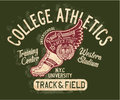 College track and field athletic Royalty Free Stock Photo