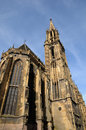 Collegiate church saint thiebaut of thann in haut rhin alsace the Royalty Free Stock Photography