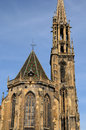 Collegiate church saint thiebaut of thann in haut rhin alsace the Royalty Free Stock Image