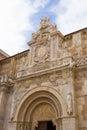 Collegiate church of san isidoro leon spain basilica de san i facade the in door lamb fachada la colegiata en león Royalty Free Stock Images