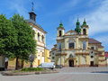 Collegiate church of virgin mary in ivano frankivsk ukraine former now regional art museum Royalty Free Stock Images