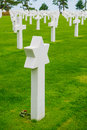 Colleville sur mer american world war ii cemetery in near omaha beach normandy france Royalty Free Stock Image