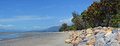 Collingwood Beach At Low Tide Panorama, New Zealand Royalty Free Stock Photo