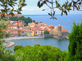 Collioure view from hill Royalty Free Stock Photography