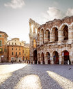 Colliseum in Verona city Royalty Free Stock Photo
