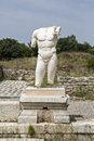 Collosal torso of naked male god in hadrian bath of aphrodisias aydin turkey Royalty Free Stock Photography