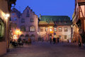 Colmar France koifhus noc Zdjęcie Royalty Free