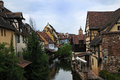 Colmar la petite venise water canal and traditional colorful houses alsace france Stock Images