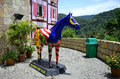 Colmar tropical bukit tinggi resort pahang malaysia november a painted horse sculpture put at the entrance of Royalty Free Stock Image