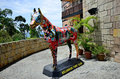 Colmar tropical bukit tinggi resort pahang malaysia november a painted horse sculpture put at the entrance of Royalty Free Stock Photography
