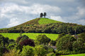 Colmers hill symondsbury at dorset on a summer s day with storm clouds gathering Stock Photos