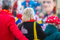 Cologne carneval people background some Royalty Free Stock Photo
