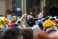 Cologne carneval people background some Royalty Free Stock Photography
