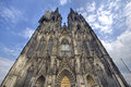 Cologne cathedral against a blue evening sky in germany Stock Photography