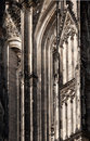Cologne cathedral detail on the famous and enormous kölner dom in germany Stock Photography