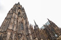 Cologne cathedral the s towers its two huge towers give it the largest facade of any church in the world Royalty Free Stock Image