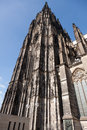 Cologne cathedral tower the famous and enormous kölner dom in germany Stock Photos