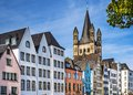 Cologne germany cityscape over the rhine river Stock Image