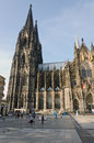 Cologne germany september people enjoy the view to the dome on september in germany it is germanys most visited landmark Royalty Free Stock Photo