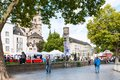 Outdoor market in Frankenwerft area of Cologne Royalty Free Stock Photo