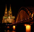 Cologne by night Royalty Free Stock Photos