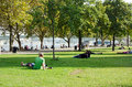 Cologne park germany september young enjoying a public on a sunny afternoon in september in germany is a popular Royalty Free Stock Image