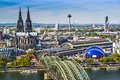 Cologne skyline of germany Royalty Free Stock Photo