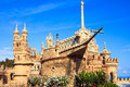 Colomares castle in benalmadena spain Royalty Free Stock Photography